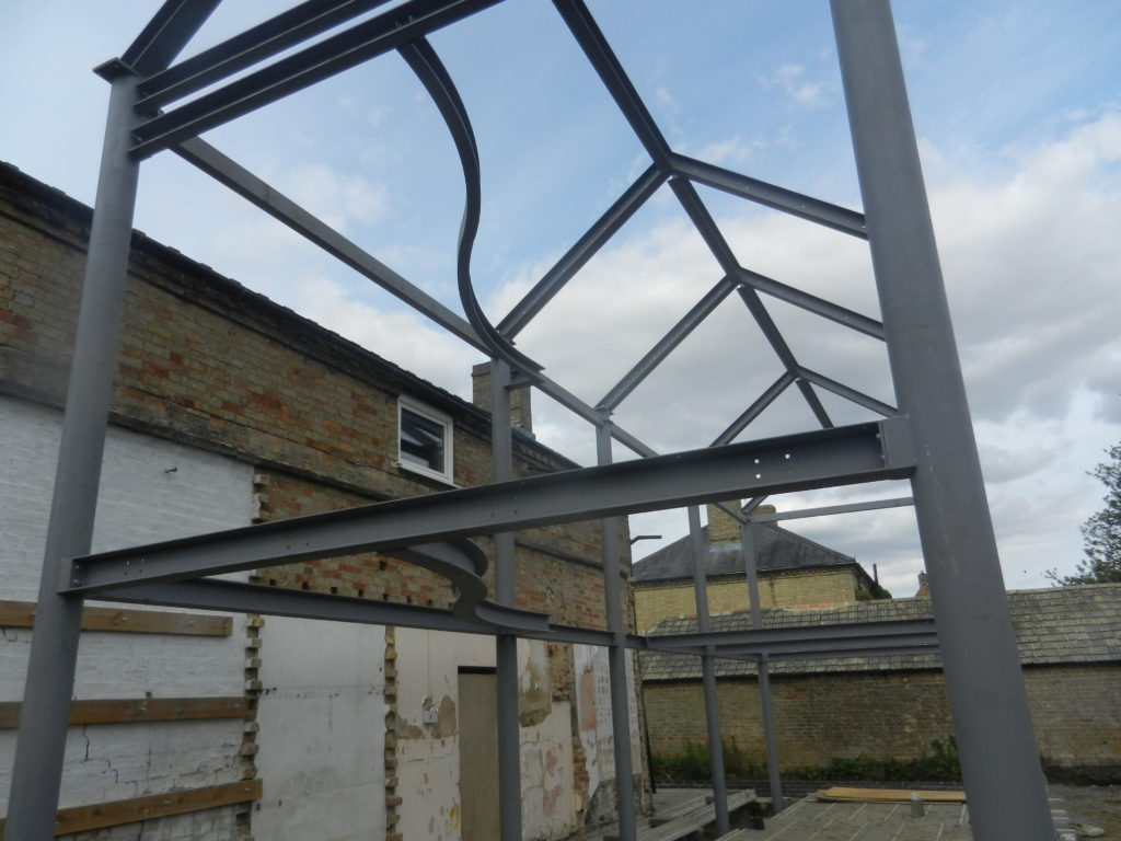 Steel Frame extension rear of victorian building - Gawn