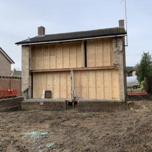 Rear side of house